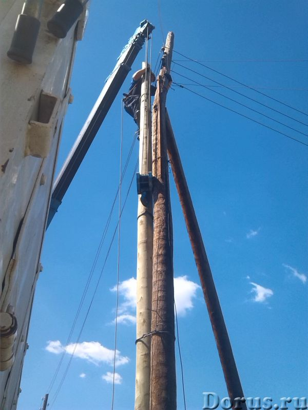 Установка опор ВЛ - Электромонтаж - Выполняем монтаж воздушных линий электропередач проводом сип, сб..., фото 1